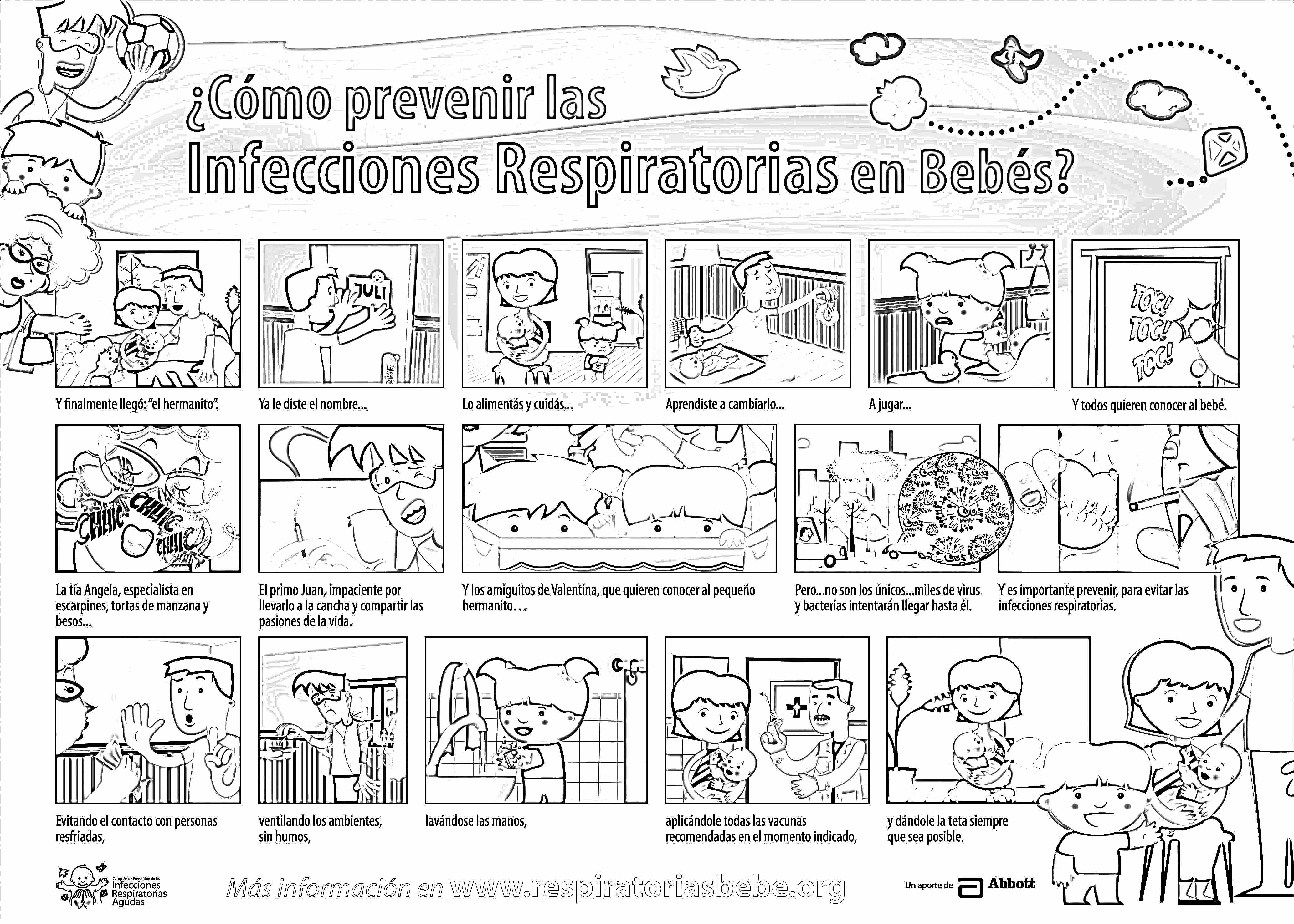mapa mural como prevenir las enfermedades respiratorias en bebes