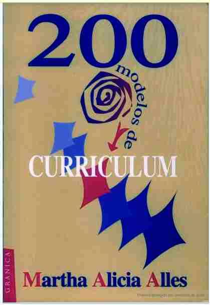modelos de curriculum. 200 MODELOS DE CURRÍCULUM .