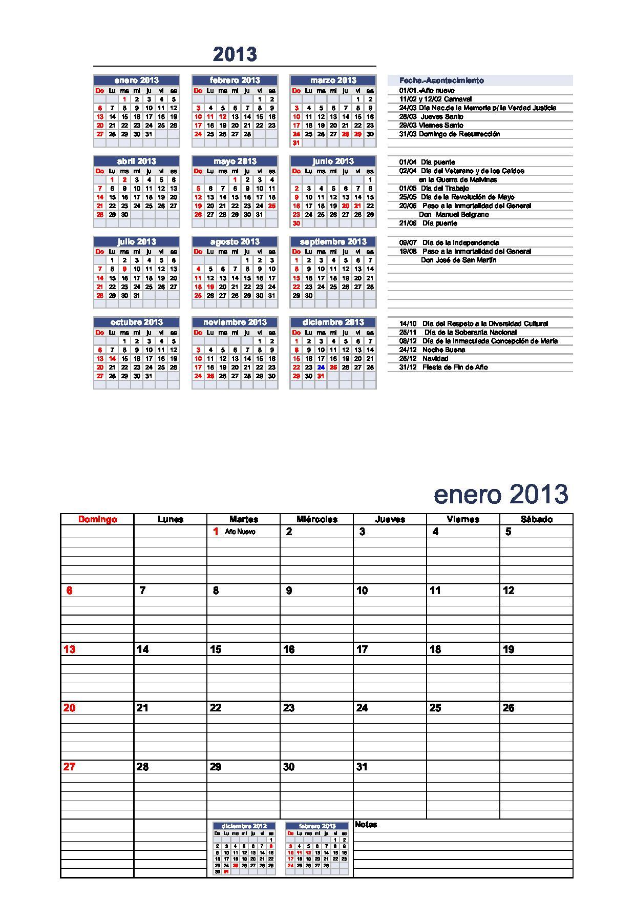 2xhoja carta calendario-2013-para-completar-con-el-calendario-docente ...