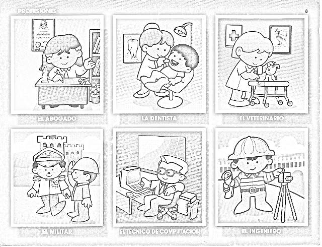 Dibujos para colorear instituciones de la comunidad - Imagui