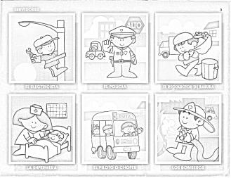 90 Figuritas De Oficios Para Colorear Infantil Para Jefaturas