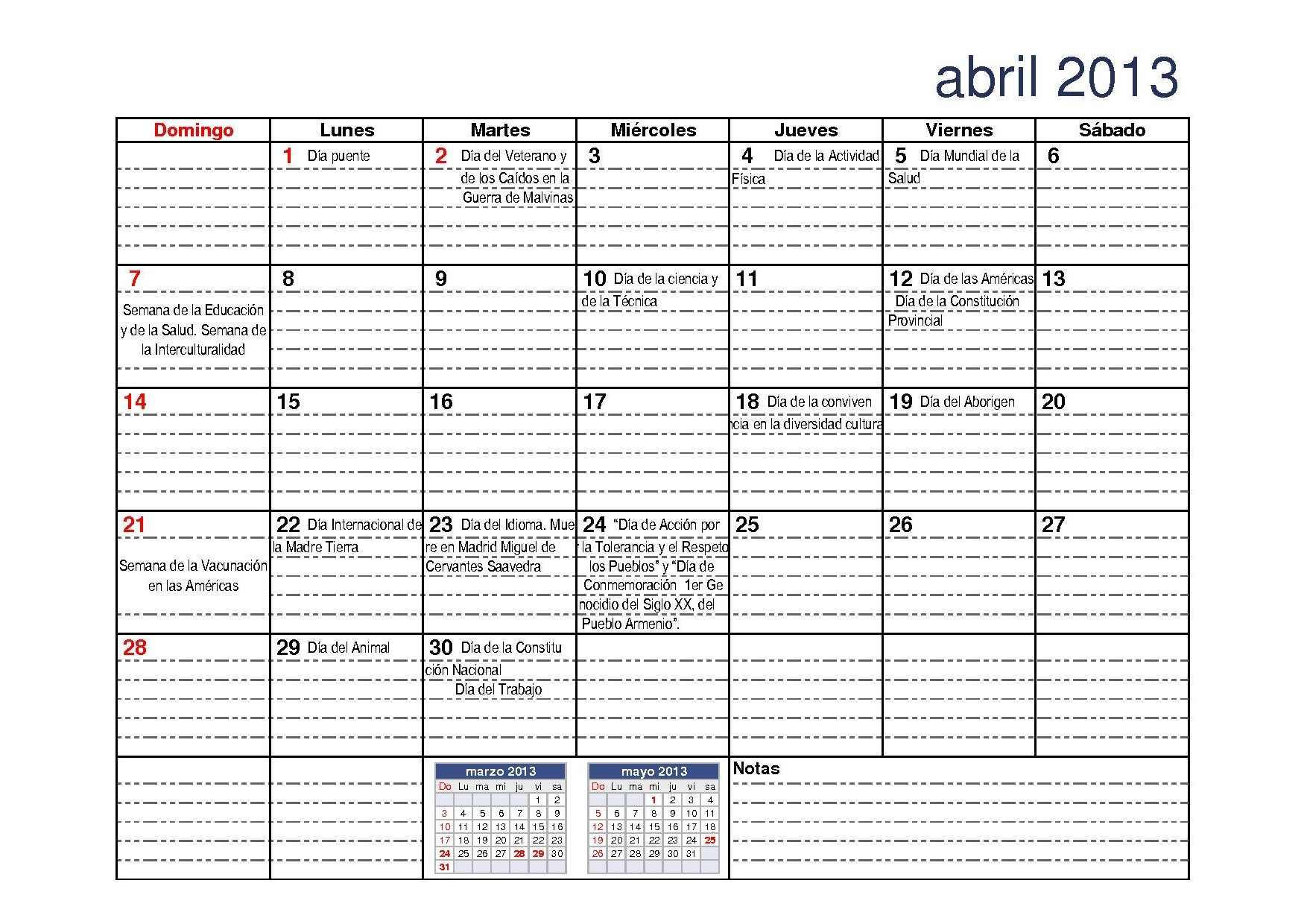 CALENDARIO 2013 CON CALENDARIO ESCOLAR (DGCyE) « PARA JEFATURAS ...