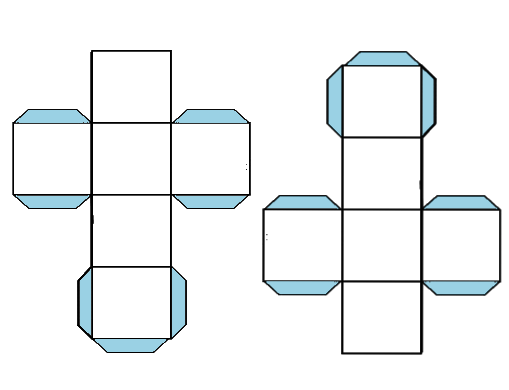 Molde para hacer un cubo para imprimir - Imagui