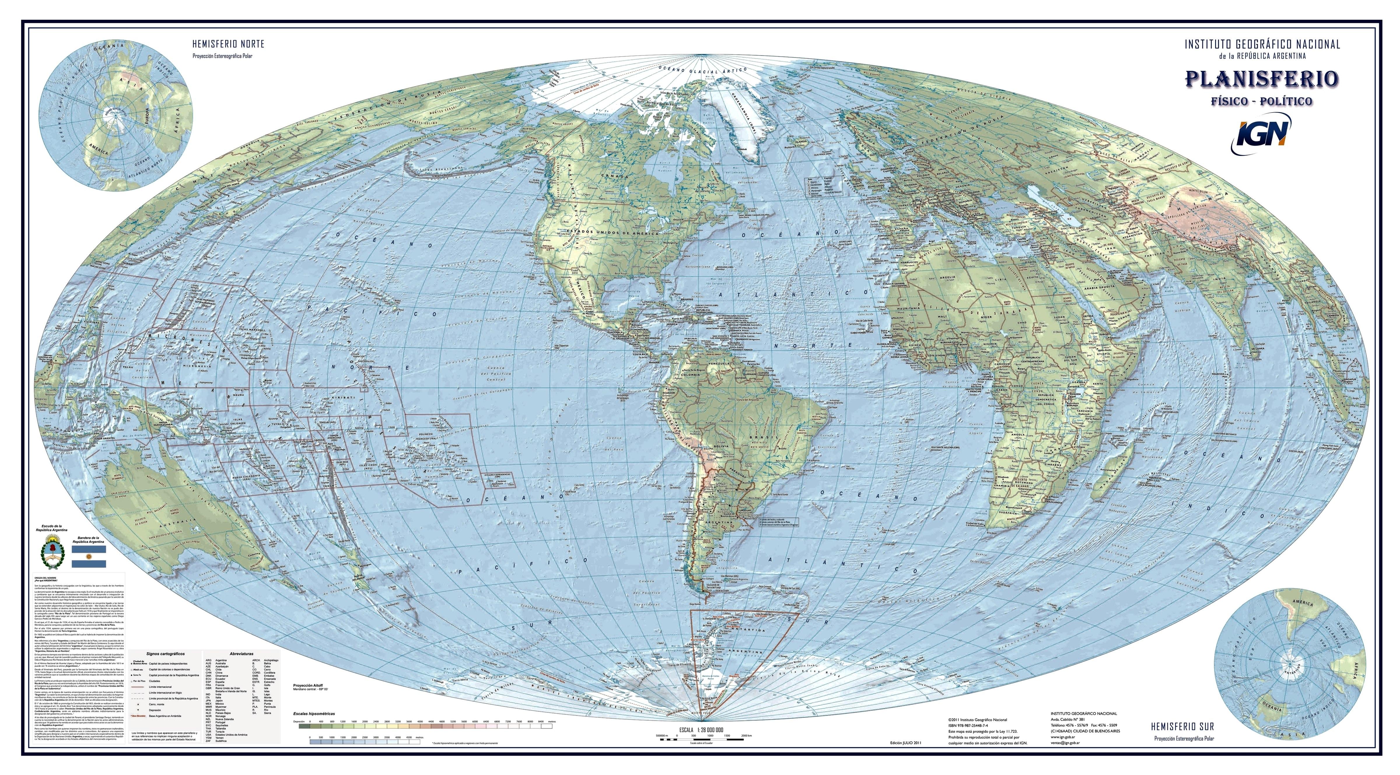Resultado de imagen para planisferio con argentina en el centro