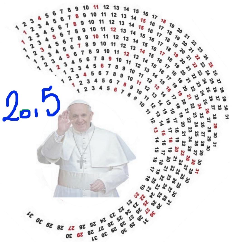 calendario minimalista circular 2015
