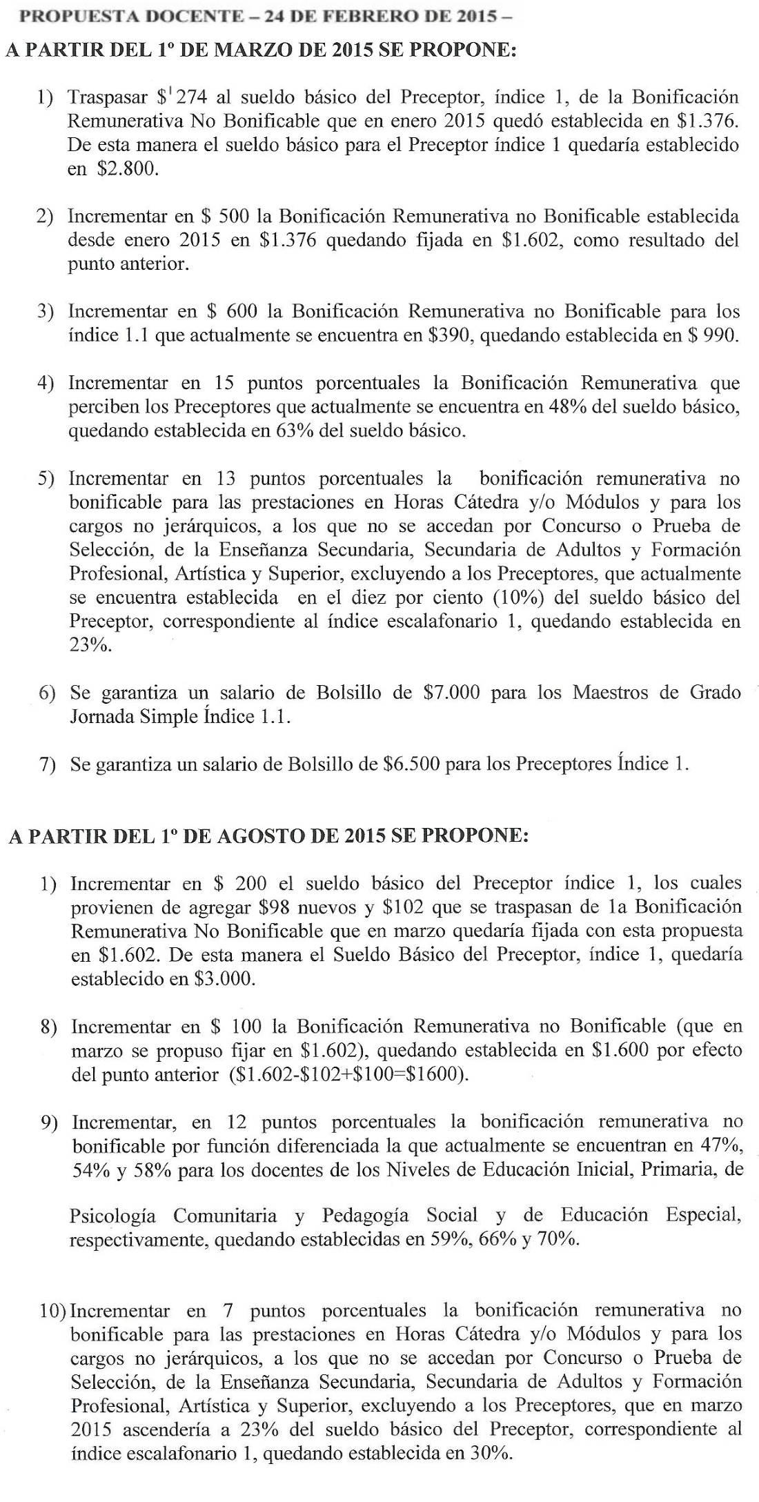 Grilla Salarial Docente Pcia Bs As 2015 | MEJOR CONJUNTO DE FRASES