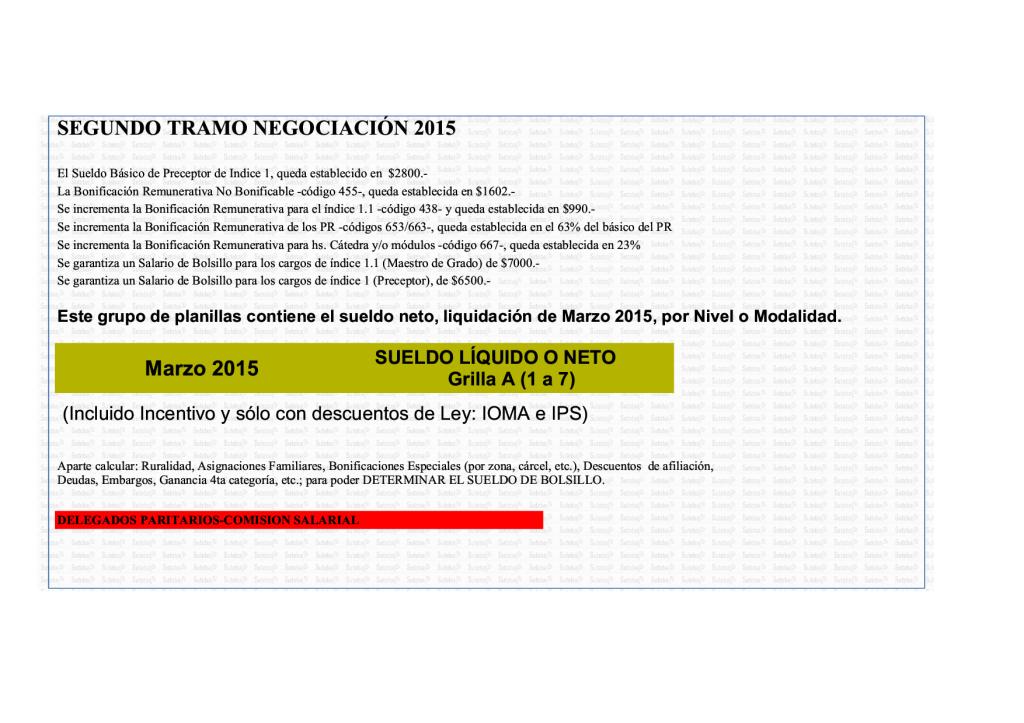 Grilla Sueldos Docentes Pcia De Bs As 2016 | MEJOR CONJUNTO DE FRASES