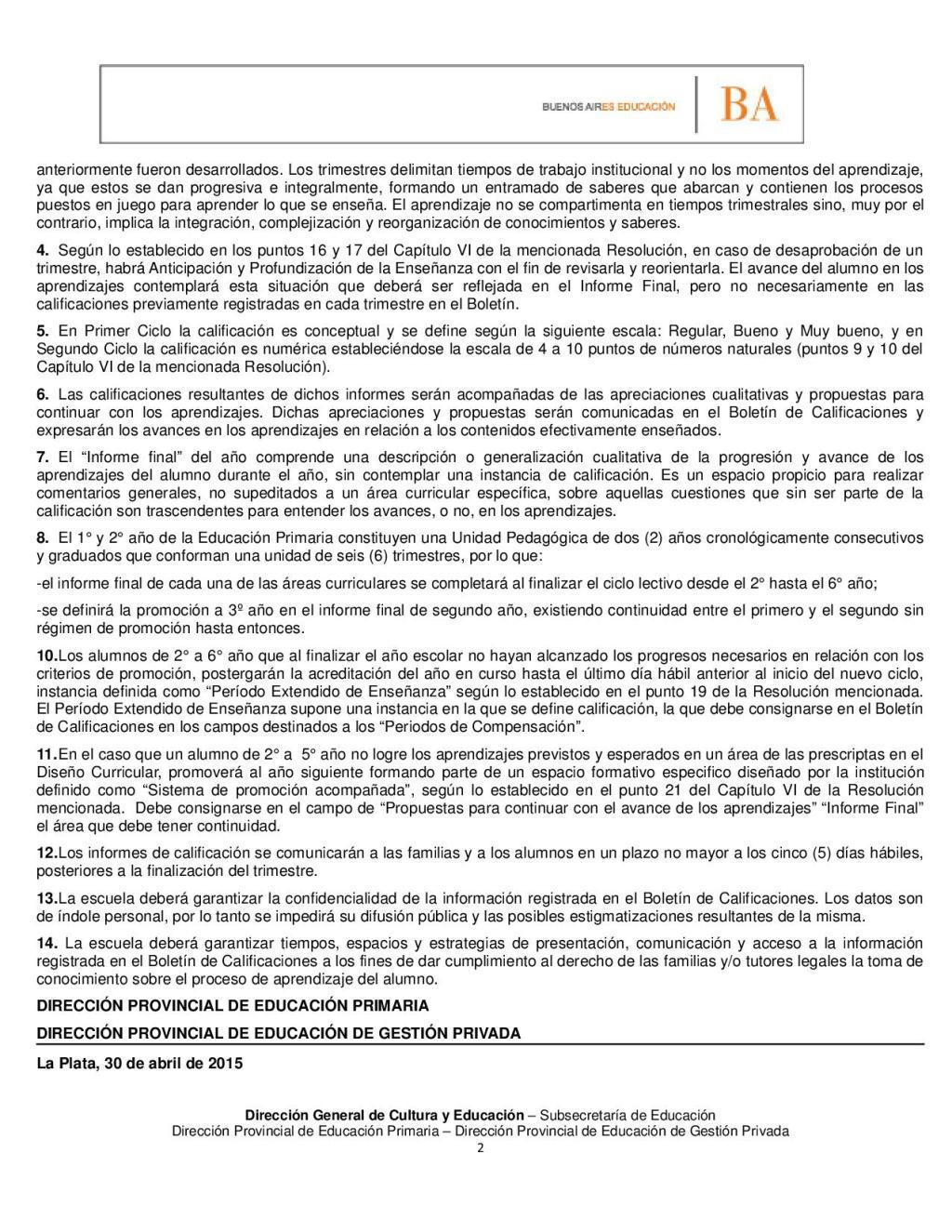 COMUNICACION CONJUNTA N° 02 2015 EL USO DEL BOLETÍN EN EL MARCO DE LA IMPLEMENTACIÓN DEL REGIMEN ACADEMICO2