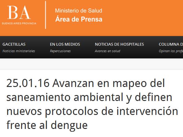 25.01.16 Avanzan en mapeo del saneamiento ambiental y definen nuevos protocolos de intervención frente al dengue
