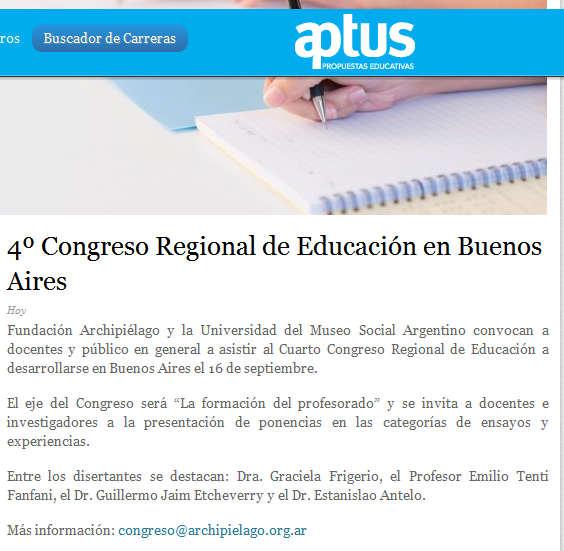 4º Congreso Regional de Educación en Buenos Aires