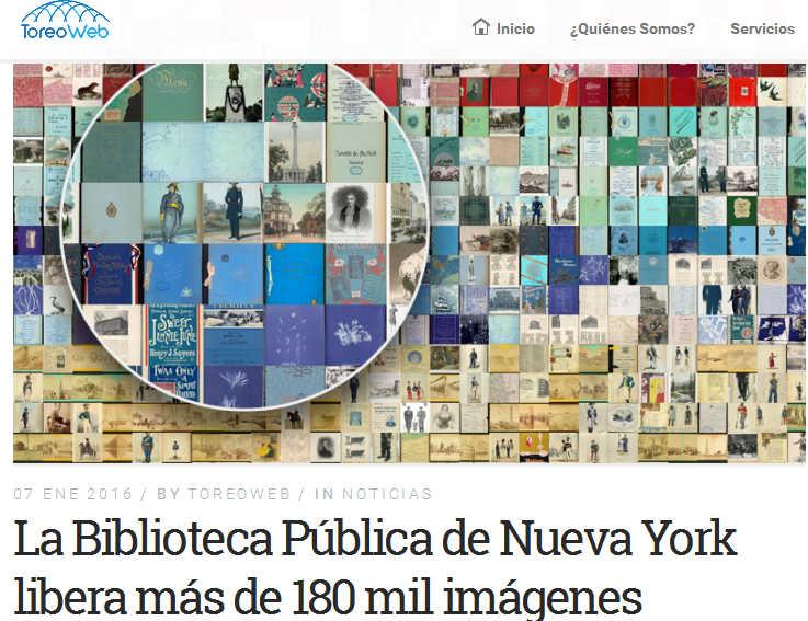 Biblioteca Pública de NY libera 180 mil imágenes - ToreoWeb