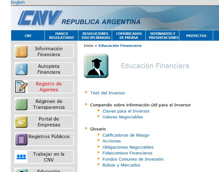 Comisión Nacional de Valores Argentina