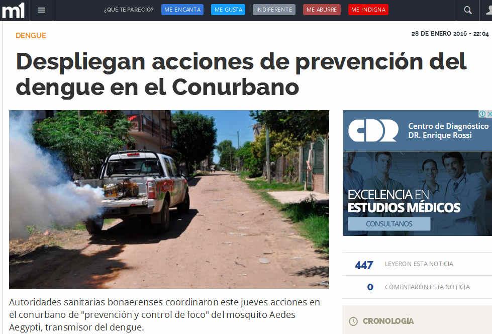 Despliegan acciones de prevención del dengue en el Conurbano - Dengue, Salud