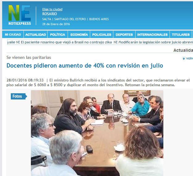 Docentes pidieron aumento de 40% con revisión en julio-Actualidad-NotiExpress