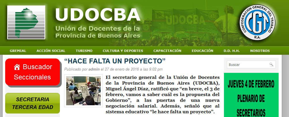 """""""HACE FALTA UN PROYECTO"""" - Udocba"""
