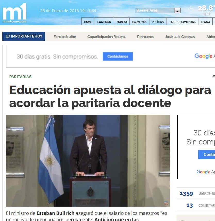 Educación apuesta al diálogo para acordar la paritaria docente - Paritarias