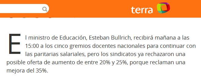 El ministro de Educación recibirá a gremios docentes, que adelantaron su rechazo a oferta salarial de hasta 25%
