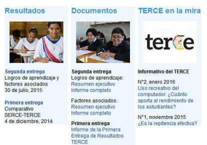 Estudio TERCE - Organización de las Naciones Unidas para la Educación, la Ciencia y la Cultura