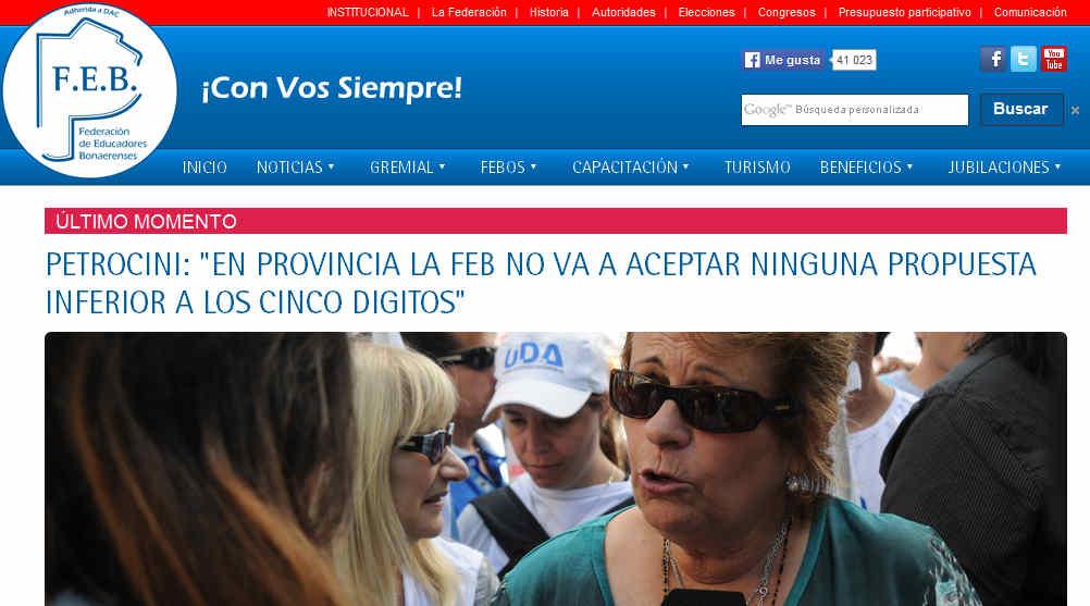 - Federación de Educadores Bonaerenses