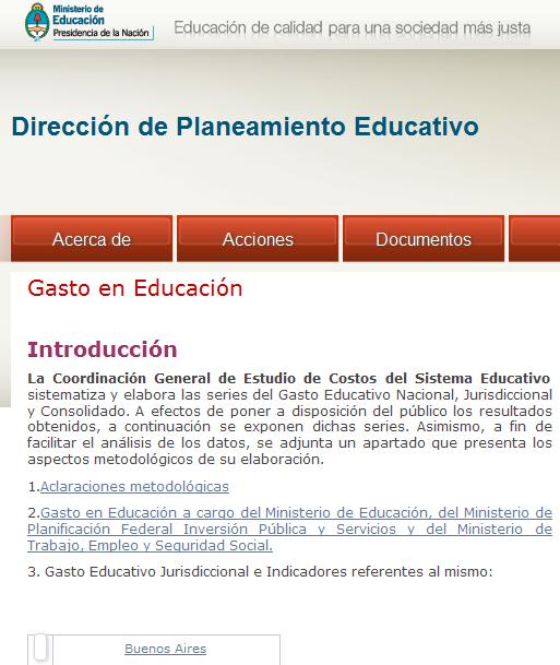Gasto en Educación - Dirección de Planeamiento Educativo