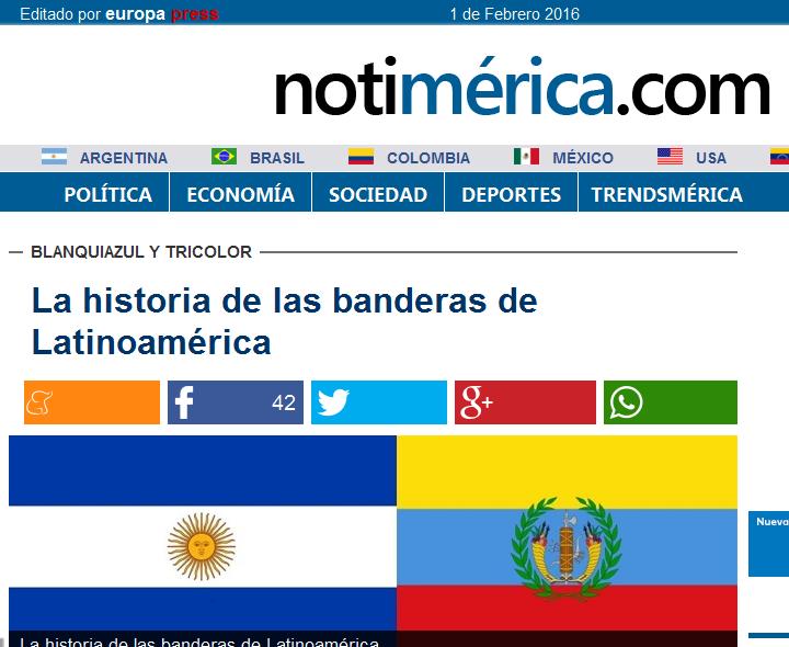 La historia de las banderas de Latinoamérica