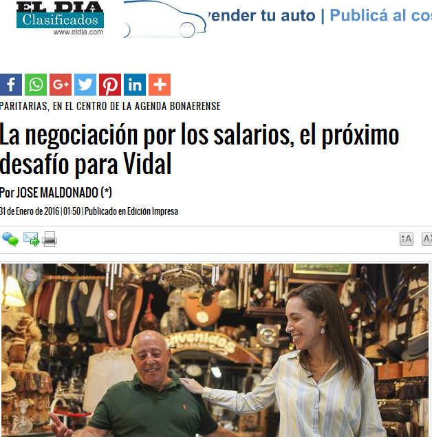La negociación por los salarios, el próximo desafío para Vidal - Diario El Día