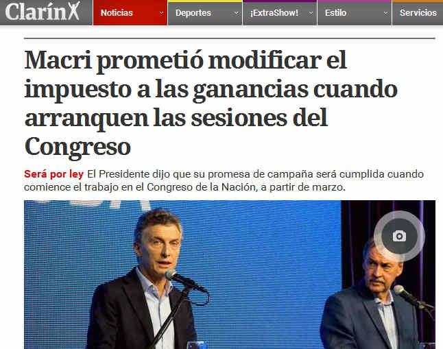Macri prometió modificar el impuesto a las ganancias cuando arranquen las sesiones del Congreso
