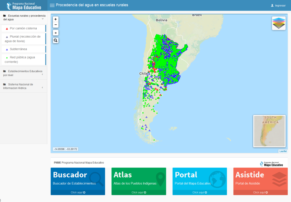 Mapa Educativo - Procedencia del agua en escuelas rurales 2016-01-20 13-11-33