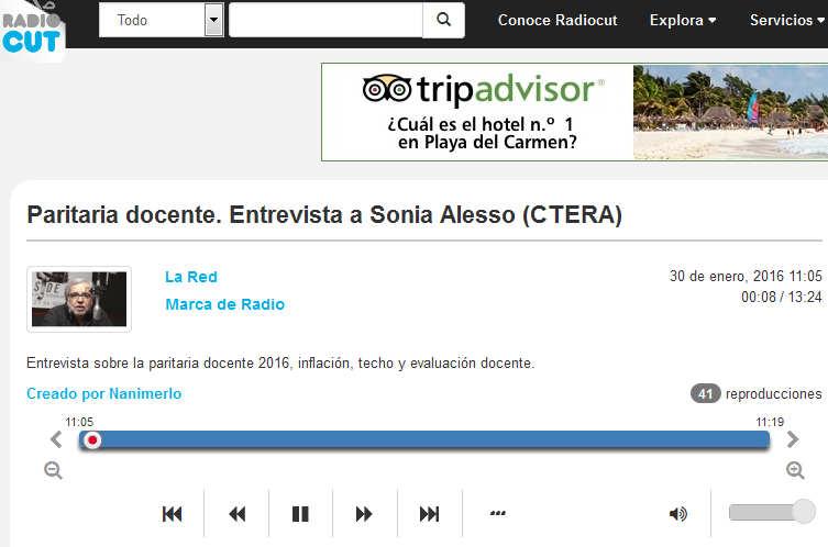 Paritaria docente. Entrevista a Sonia Alesso (CTERA) - Radiocut