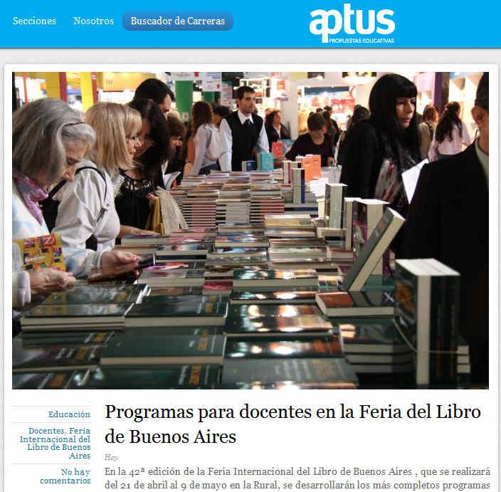 Programas para docentes en la Feria del Libro de Buenos Aires
