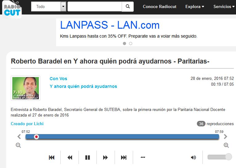 Roberto Baradel en Y ahora quién podrá ayudarnos - Paritarias- - Radiocut