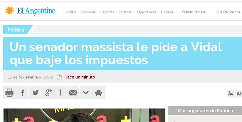 Un senador massista le pide a Vidal que baje los impuestos - Política - El Argentino.jpg