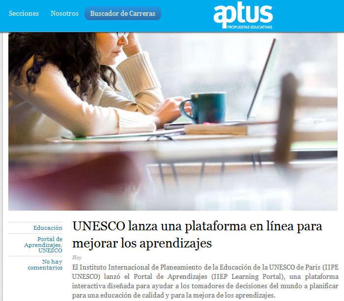 UNESCO lanza una plataforma en línea para mejorar los aprendizajes