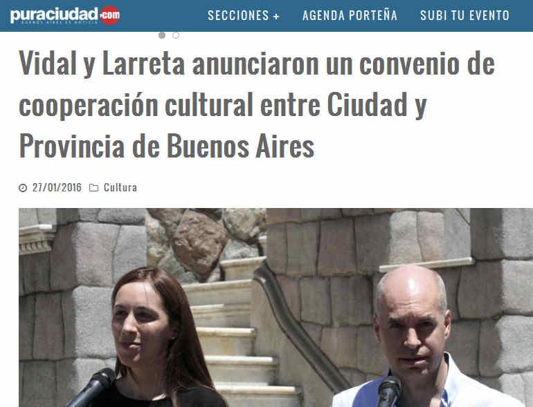 Vidal y Larreta anunciaron un convenio de cooperación cultural entre Ciudad y Provincia de Buenos Aires – Pura Ciudad - Noticias de Buenos Aires