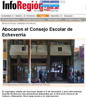 Abocaron el Consejo Escolar de Echeverría - inforegion.com.ar