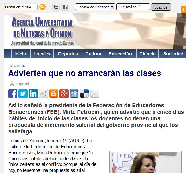 Advierten que no arrancarán las clases - Agencia Universitaria de Noticias y Opinión