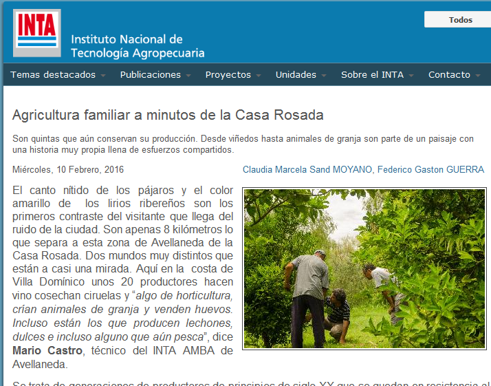 Agricultura familiar a minutos de la Casa Rosada - INTA Instituto Nacional de Tecnología Agropecuaria
