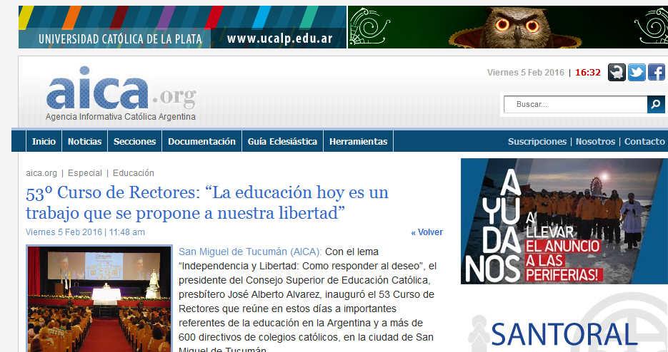 """AICA 53º Curso de Rectores """"La educación hoy es un trabajo que se propone a nuestra libertad"""""""