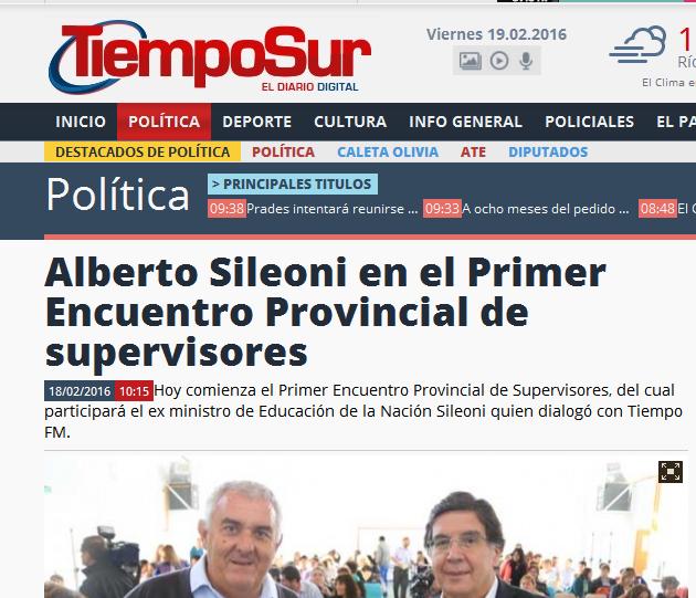 Alberto Sileoni en el Primer Encuentro Provincial de supervisores
