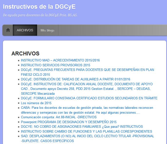 ARCHIVOS - Instructivos de la DGCyE
