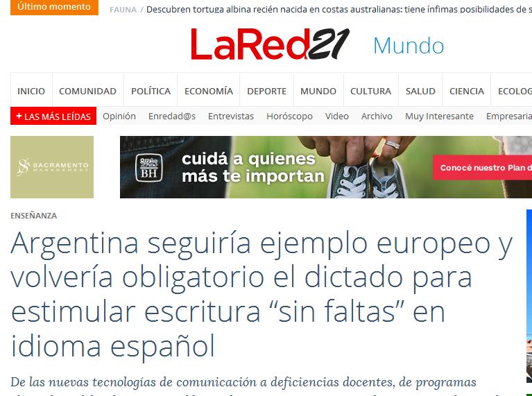 """Argentina seguiría ejemplo europeo y volvería obligatorio el dictado para estimular escritura """"sin faltas"""" en idioma español - Noticias Uruguay LARED21"""