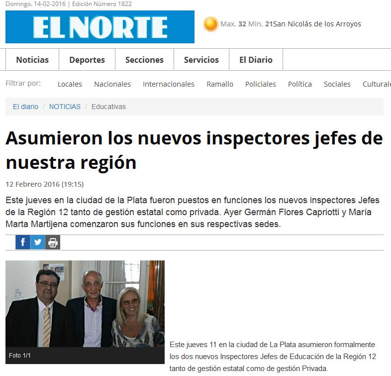Asumieron los nuevos inspectores jefes de nuestra región EL NORTE