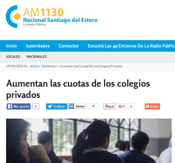 Aumentan las cuotas de los colegios privados - Radio Nacional Santiago