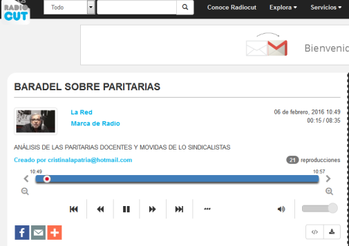 BARADEL SOBRE PARITARIAS - Radiocut