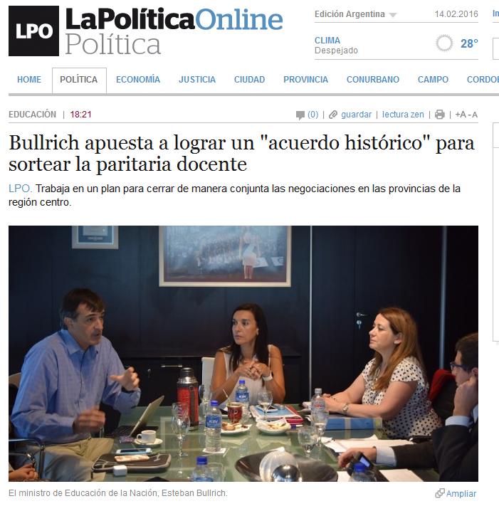 Bullrich apuesta a lograr un 'acuerdo histórico' para sortear la paritaria docente - La Política Online
