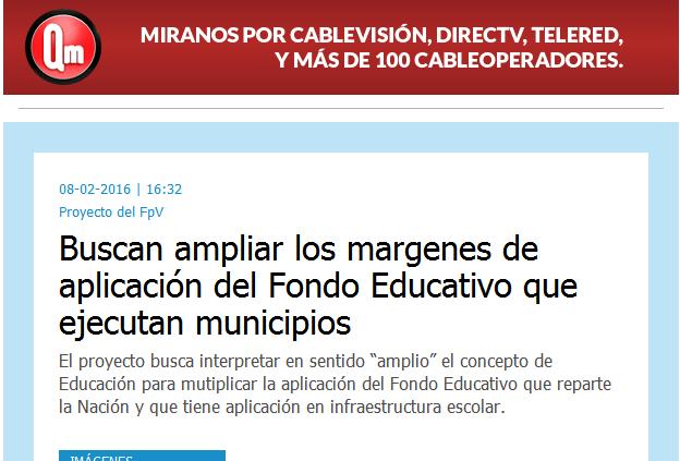 Buscan ampliar los margenes de aplicación del Fondo Educativo que ejecutan municipios - Infocielo - Toda la Provincia, un solo lugar.