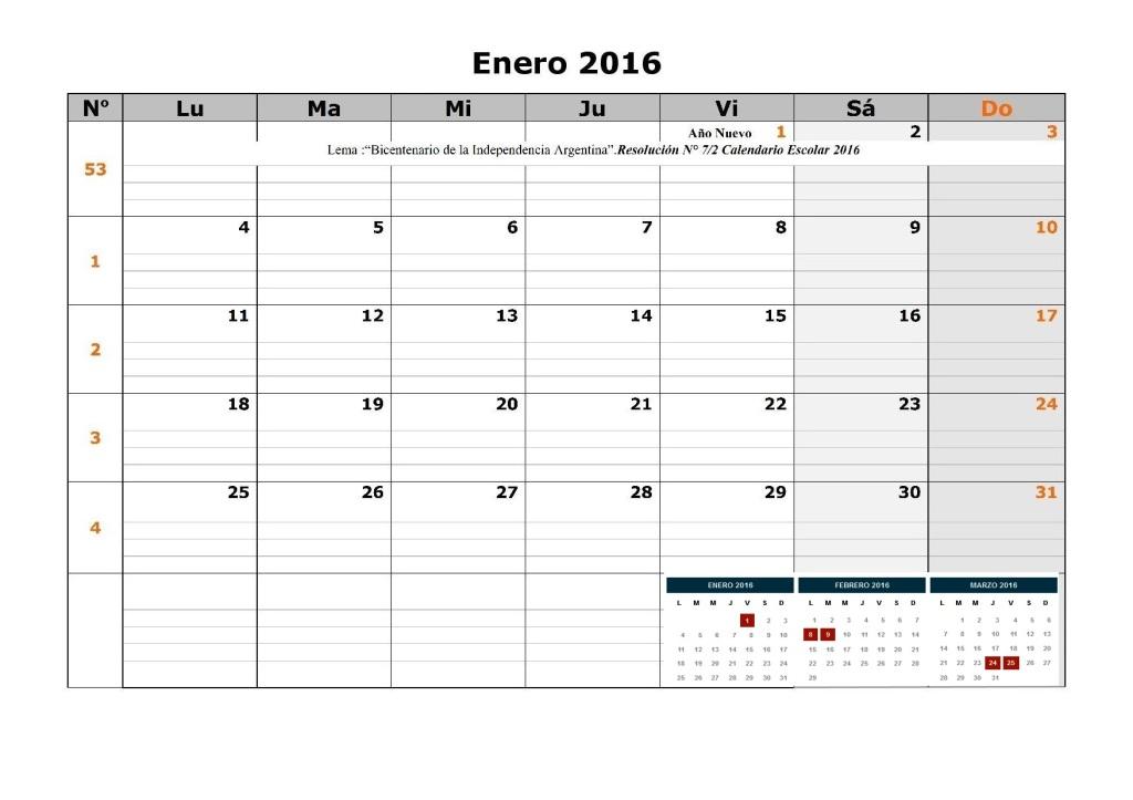 Vacaciones Escolar De Invierno 2016 | Calendar Template 2016