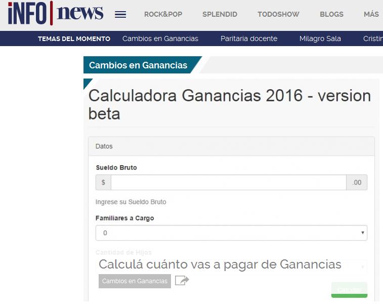 Cambios en Ganancias - INFOnews