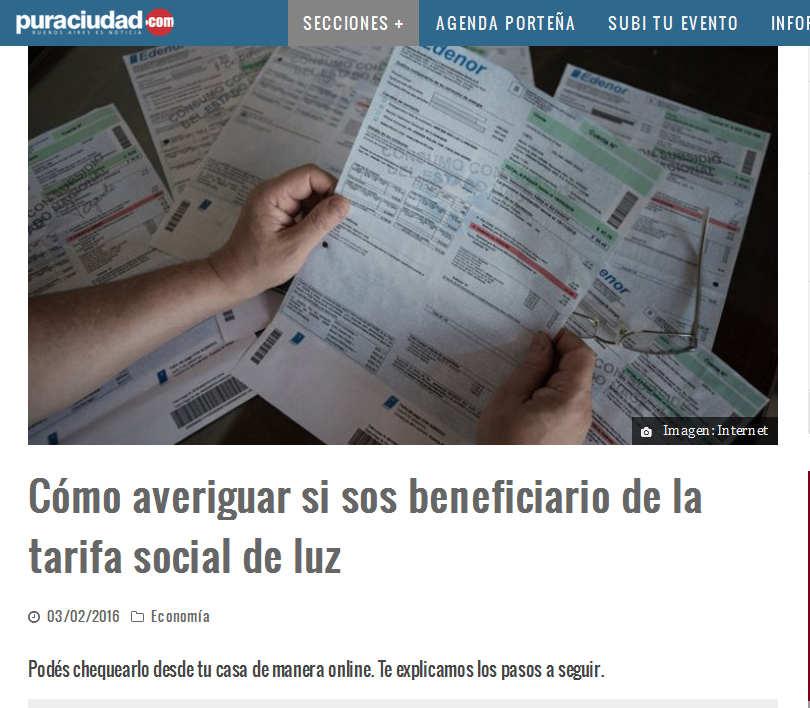 Cómo averiguar si sos beneficiario de la tarifa social de luz – Pura Ciudad - Noticias de Buenos Aires