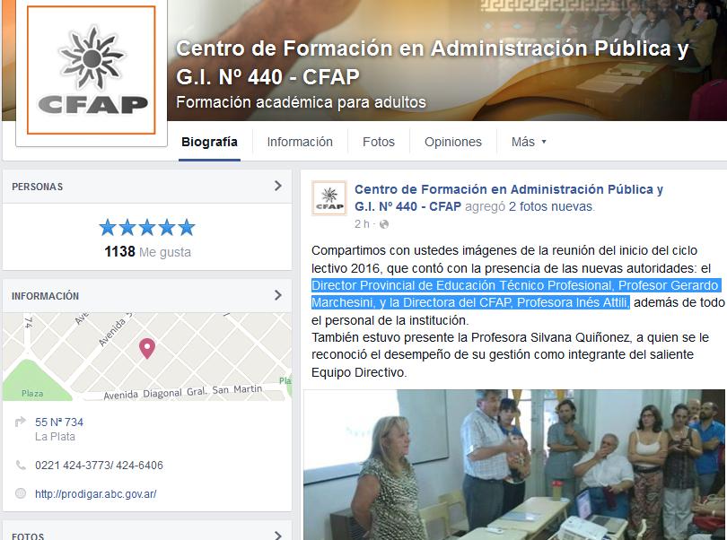 Centro de Formación en Administración Pública y G.I. Nº 440 - CFAP